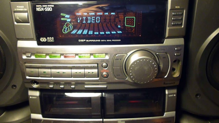 Aiwa 1000 Watt Music System Speakers 1