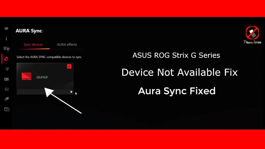 Scan Devices No Device Asus 1
